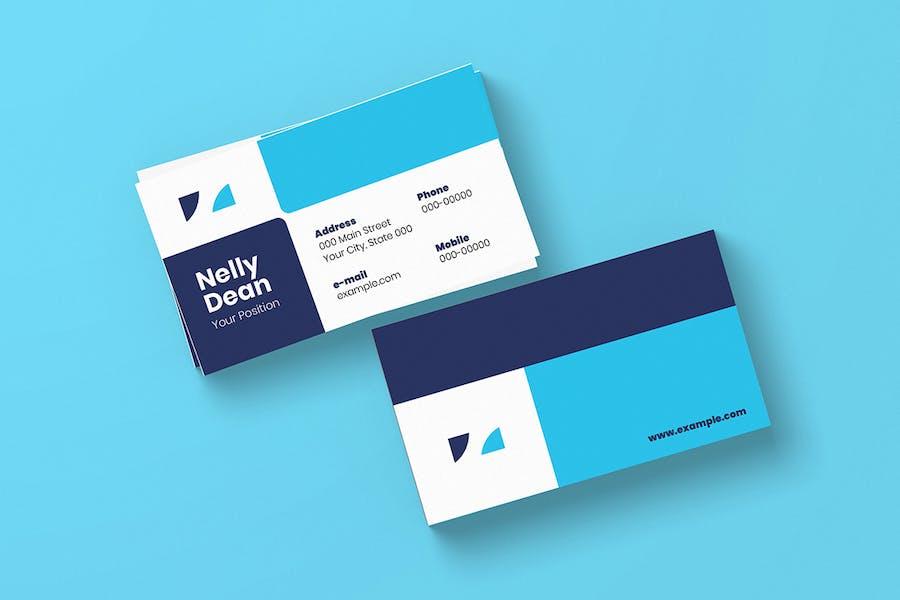 10 Geometric Business Cards Bundle - 2