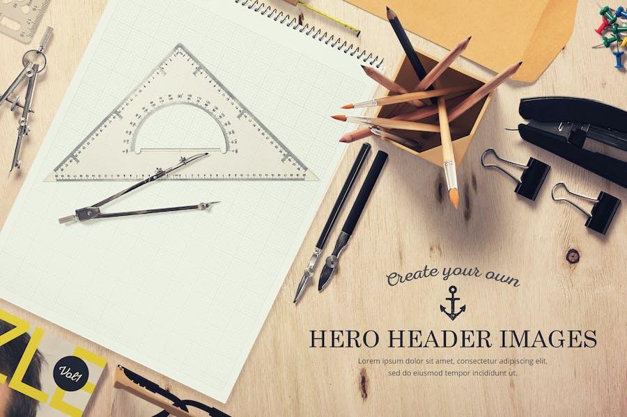 Hero Header Mockups Scene Generator  - 2