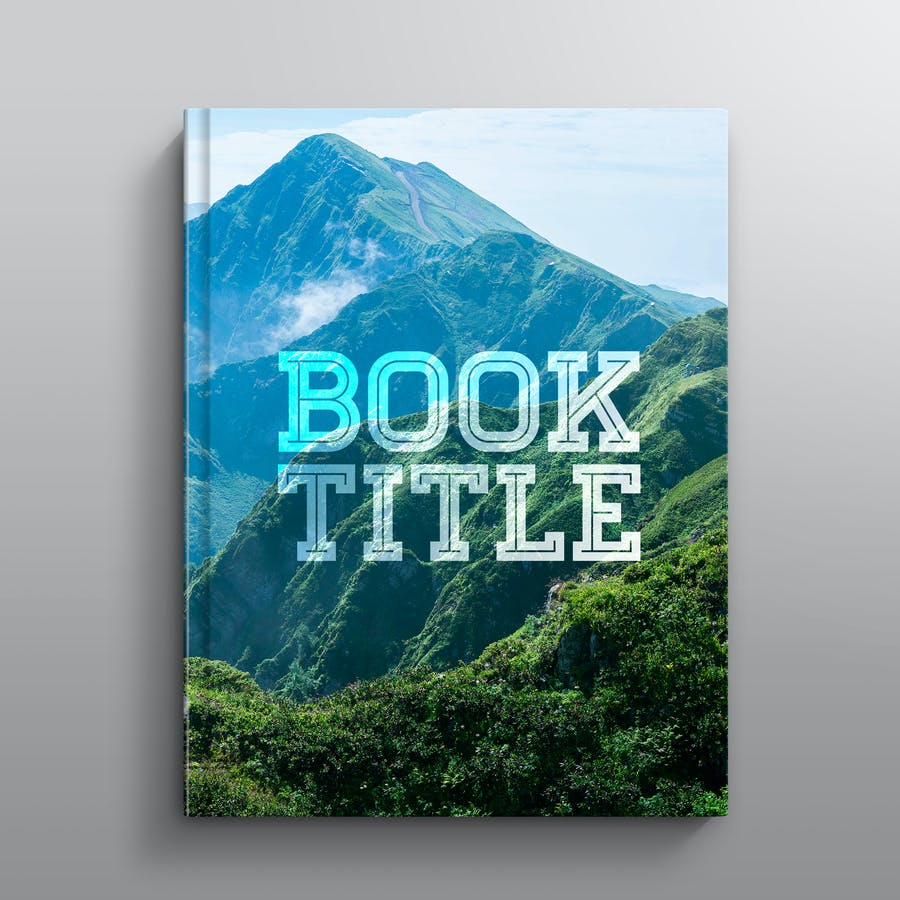 Hardcover Book Mockup: Straight - 0