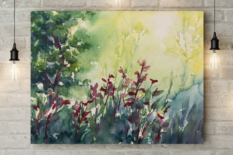 Hand Painted Watercolor Landscapes Volume 1 - 0