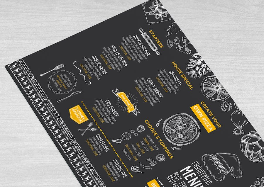 Christmas Menu Restaurant Template - 1
