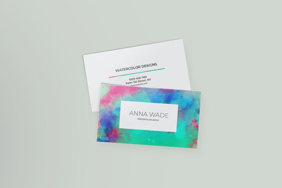 Watercolor Business Cards I - 0