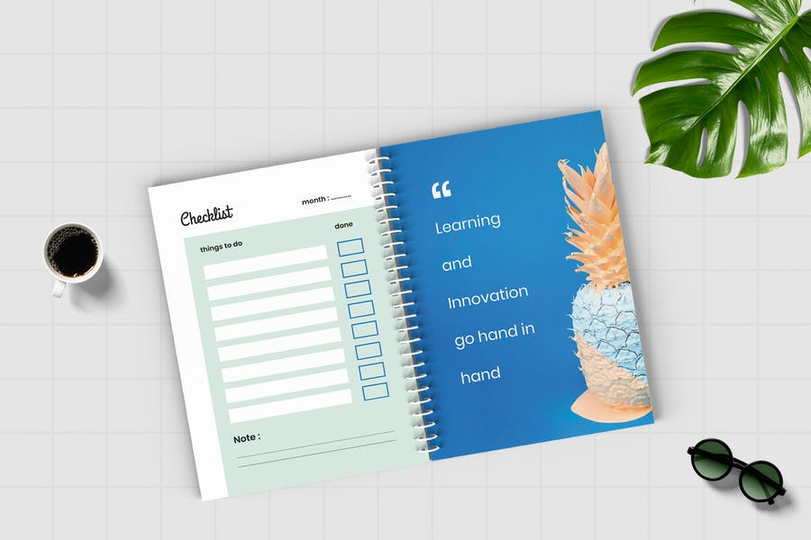 Worksheet Daily Planner Book - Two - 2