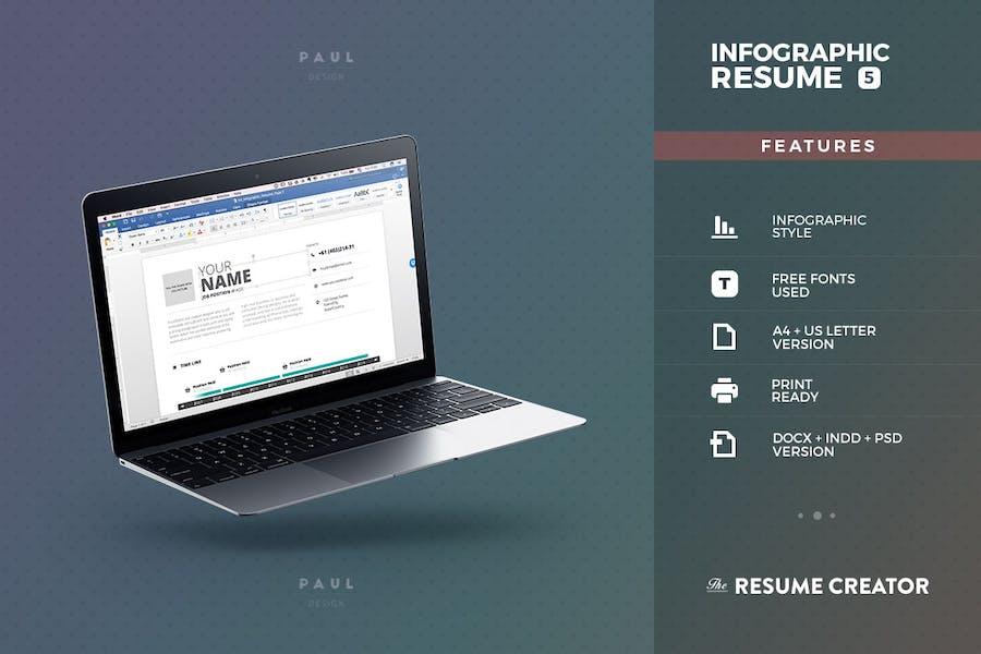 Infographic Resume/Cv Volume 5 - 2