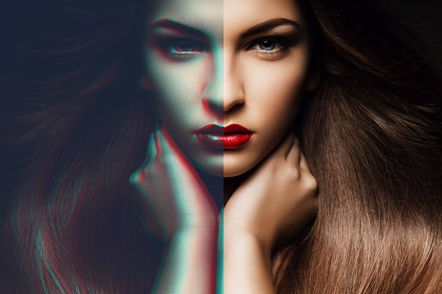 Anaglyph Photoshop Actions - 2