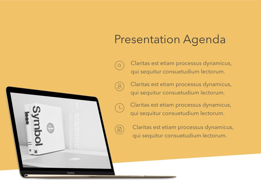 Orange Touch Keynote Template - 2
