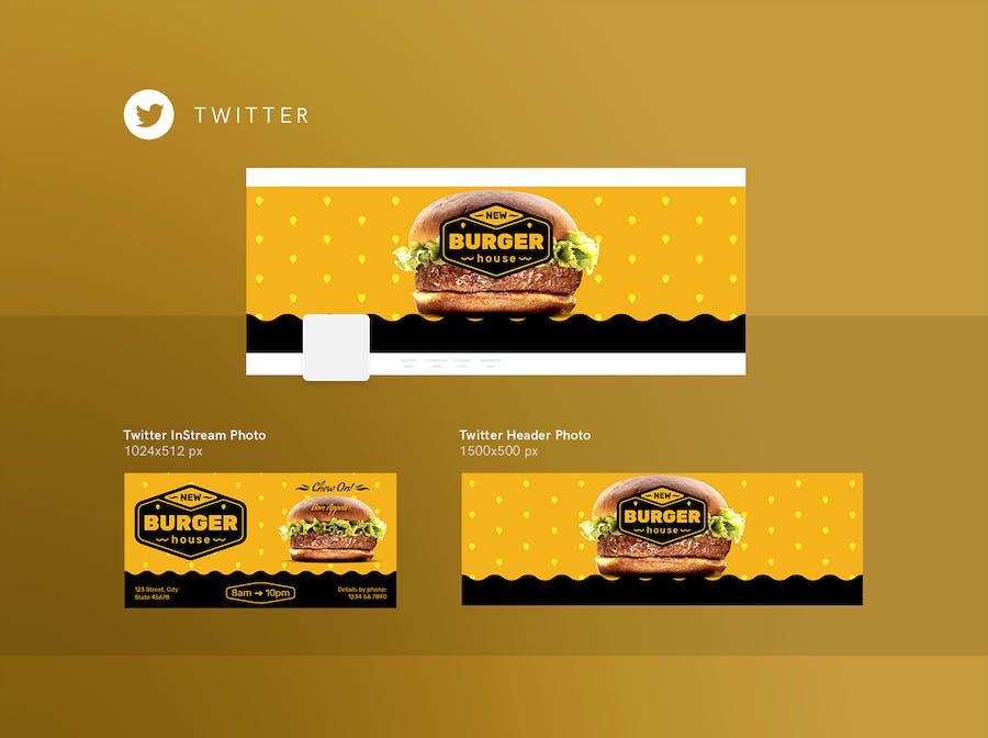 Burger House Social Media Pack Template - 2