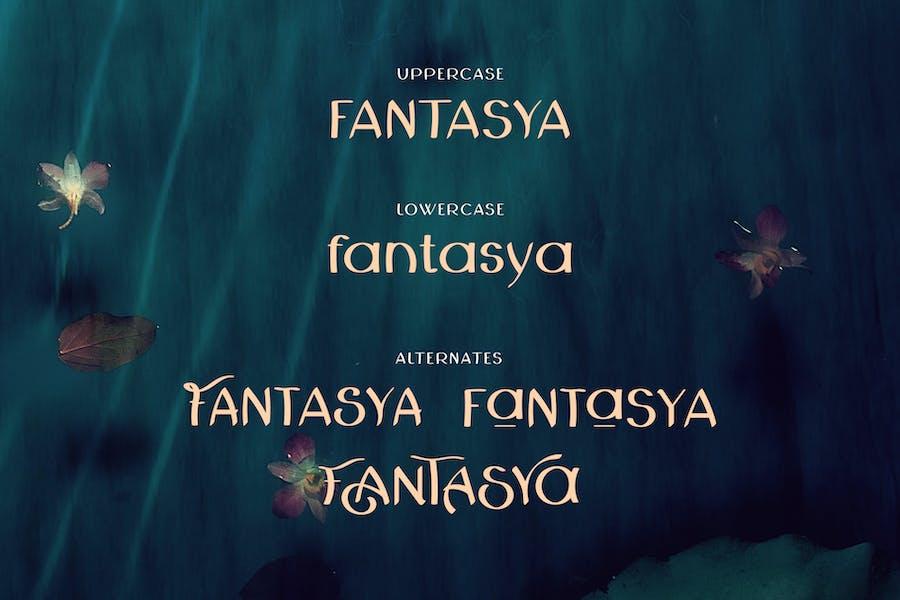 Fantasya Hand Drawn Font - 0
