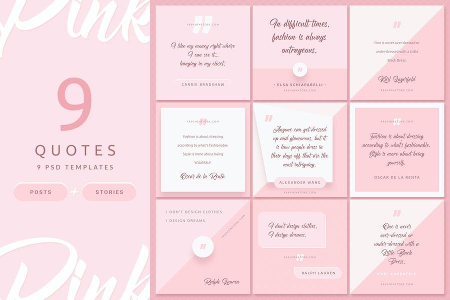 Pink Fashion - Instagram Posts & Stories - 2
