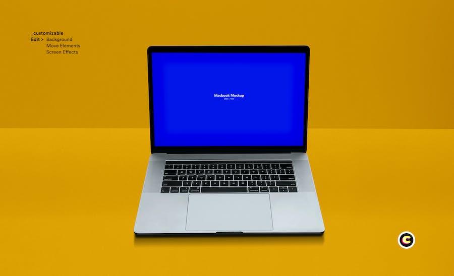 Macbook Laptop Display Web App Mock-Up - 2