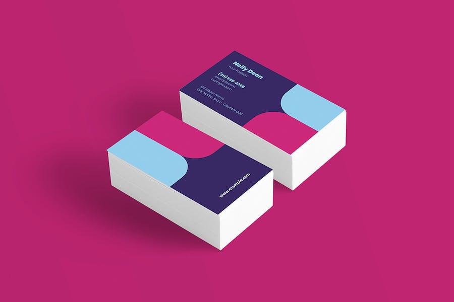 10 Geometric Business Cards Bundle - 3