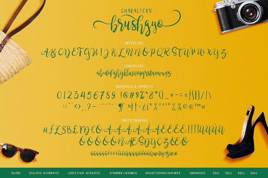 brushgyo typeface - 2