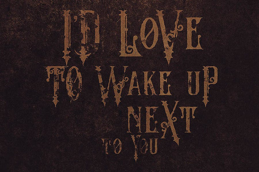 The Crow - Vintage Style Font - 3