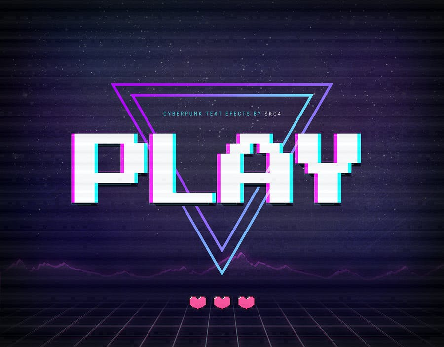 Cyberpunk - 80s Retro Text Effects - 0