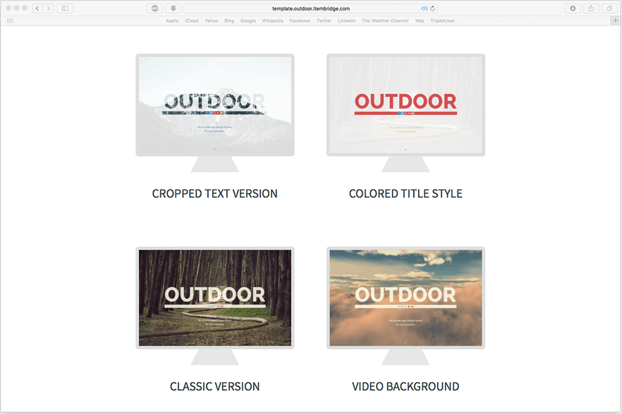 Outdoor — OnePage Responsive Template - 0