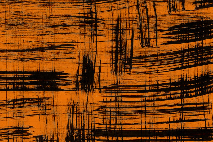 Orange Abstract Ink Textures - 1
