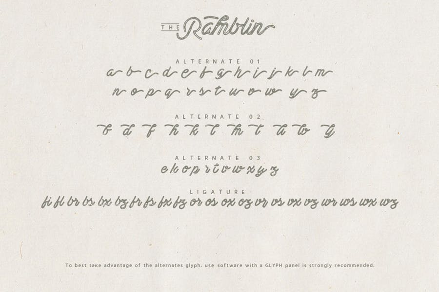 Ramblin Font Duo - 2