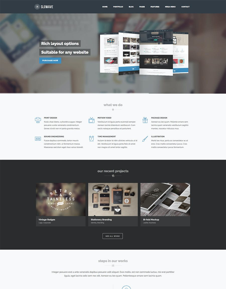 Slowave - Multipurpose Responsive HTML5 Template - 1