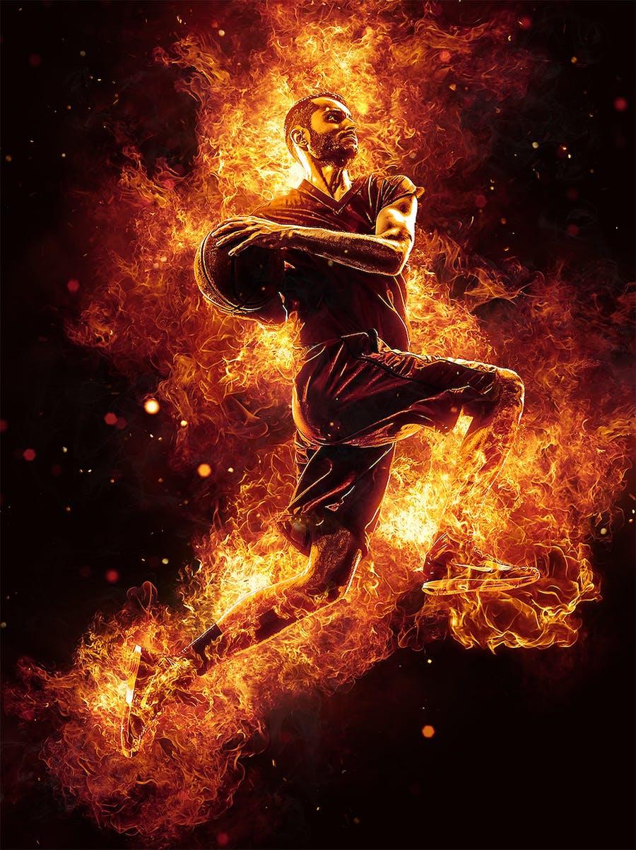 Flames Photoshop Action - 0