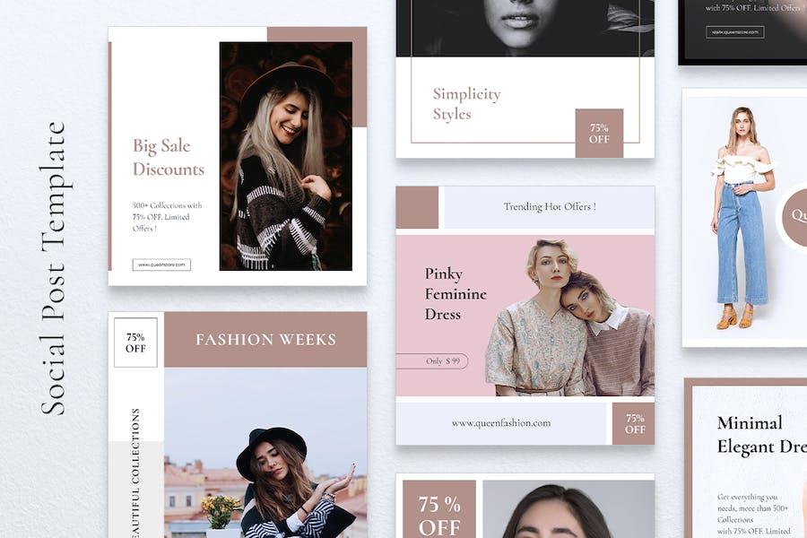 QUEEN Fashion Instagram & Facebook Post - 1