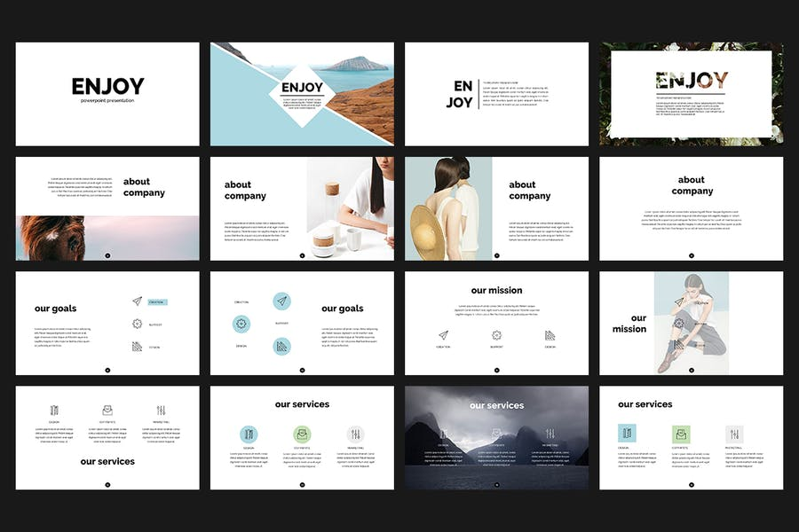 Enjoy PowerPoint Template - 0