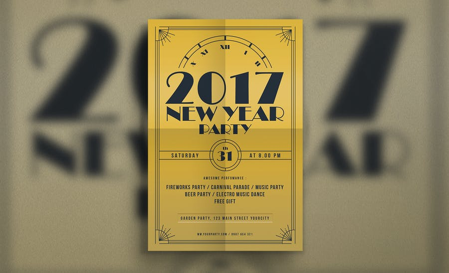 Golden New Year Flyer - 0