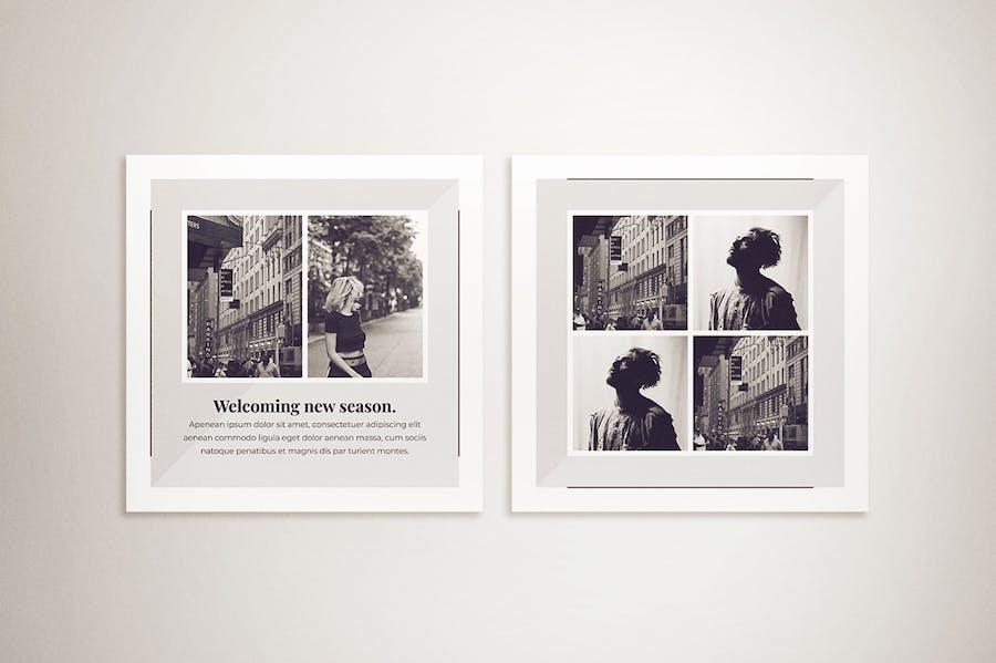 Monochrome Instagram Post & Instagram Story - 2
