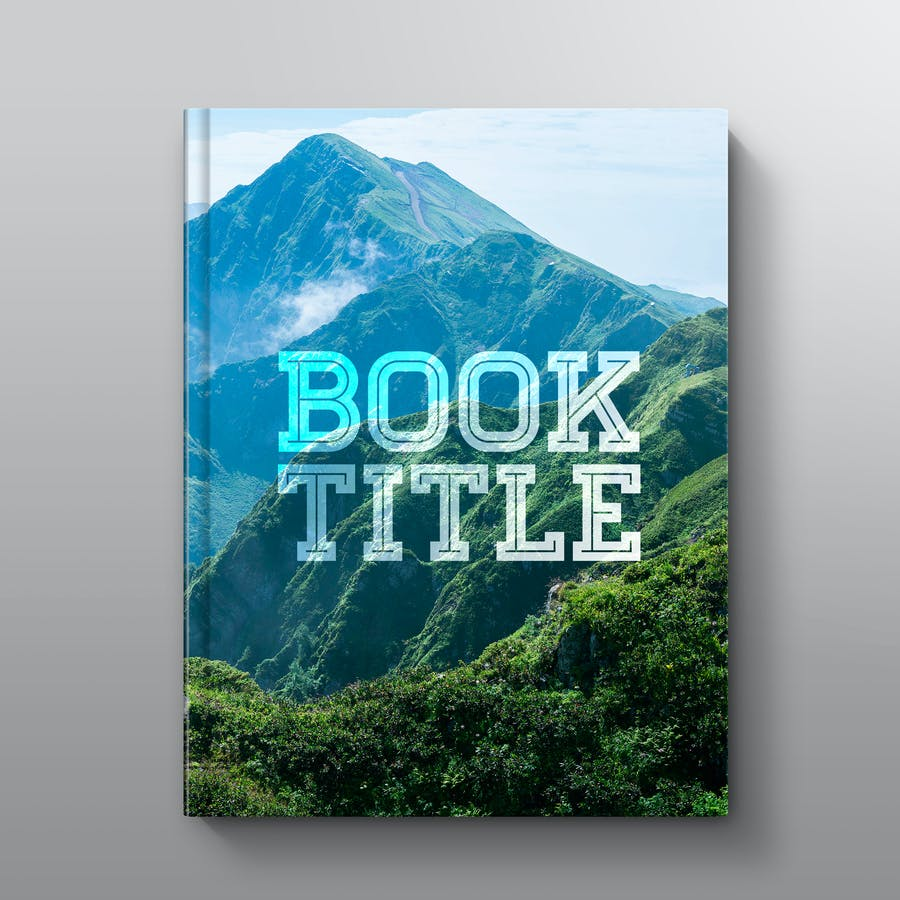 Hardcover Book Mockup: Straight - 1