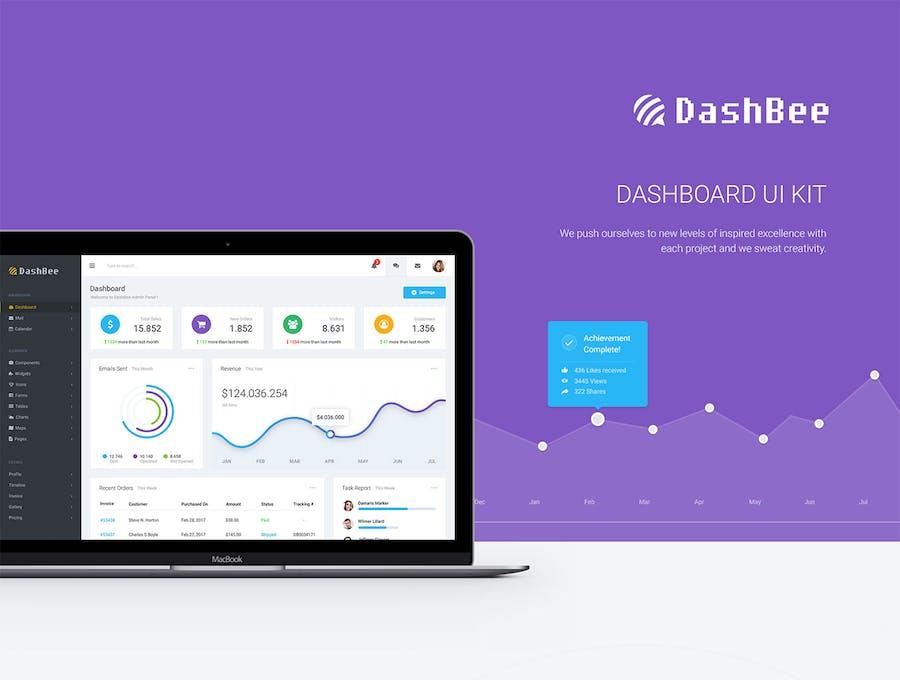 DashBee - CMS Dashboard UI Kit - 0