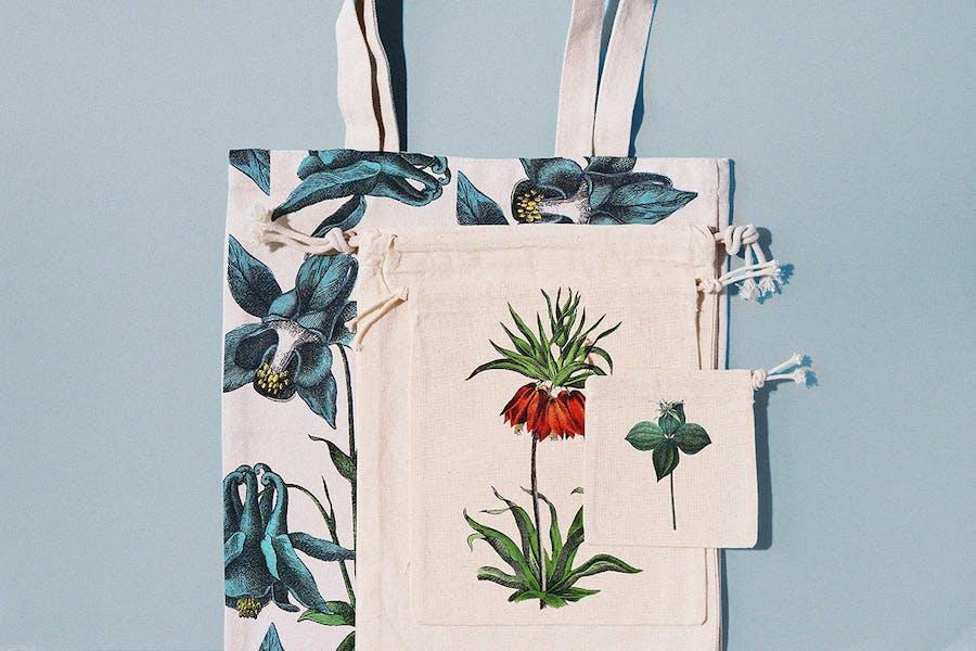 Vintage exotic flowers - botanical set - 1