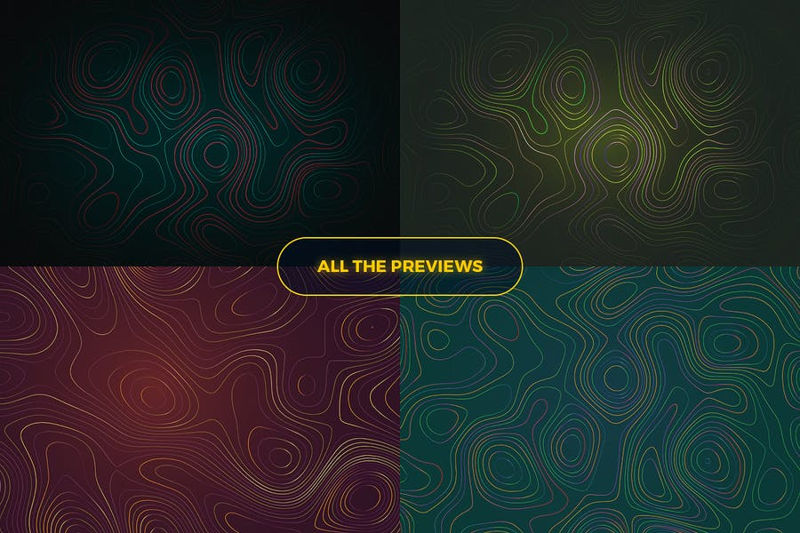 Topographic Styled Colorful Lines Background - 2