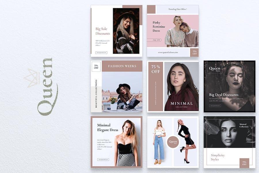 QUEEN Fashion Instagram & Facebook Post - 3