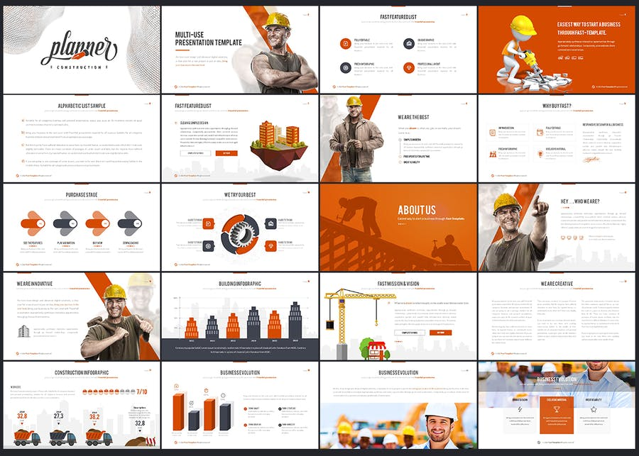 Construction Google Slides Template - 0