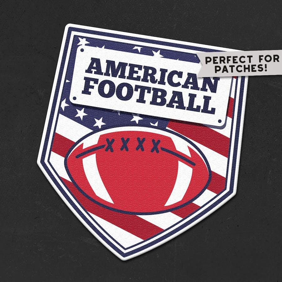 Vintage American Football Logos / USA Sports Badge - 0