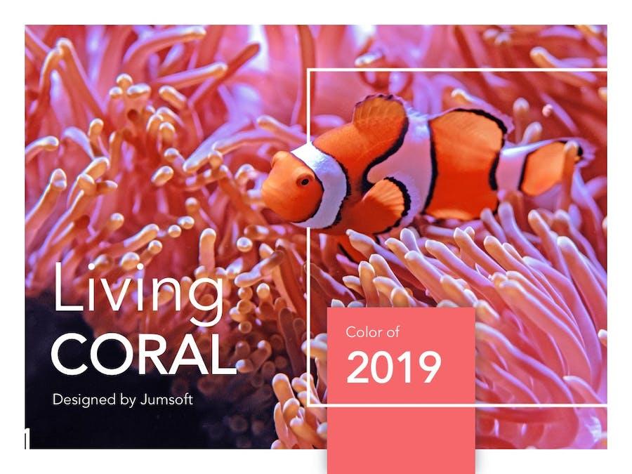 Living Coral Google Slides - 0