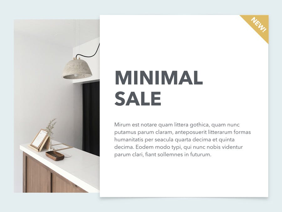Minimal Sale PowerPoint Template - 0