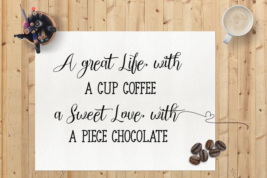 Chocolate Milky - Font Duo - 1