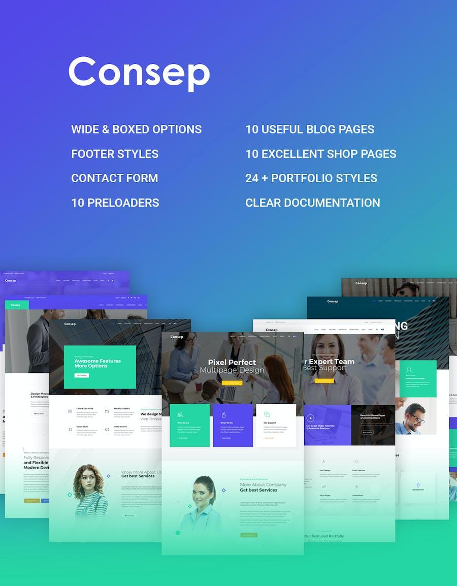Consep - Responsive Multipurpose HTML5 Template - 1