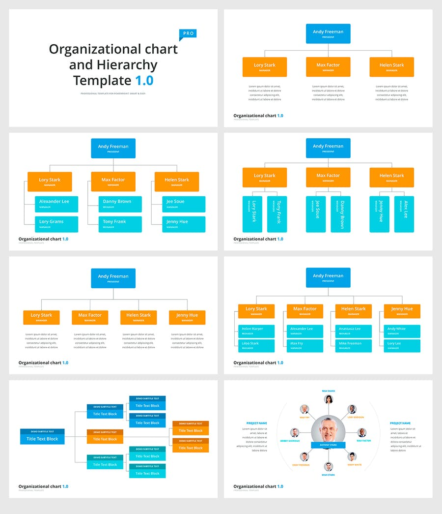 Organizational chart and Hierarchy Template - 1