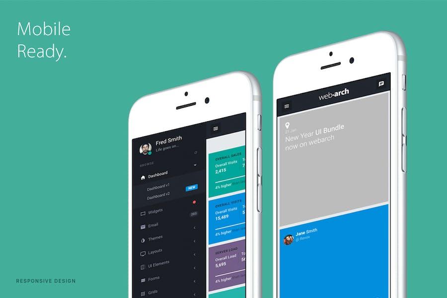 Webarch - Responsive Admin Dashboard Template - 1
