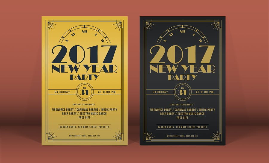Golden New Year Flyer - 2
