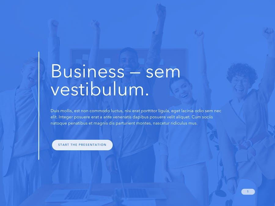 Cobalt Business PowerPoint Template - 0