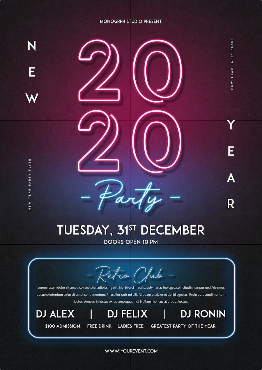 New Year Party Flyer - 0