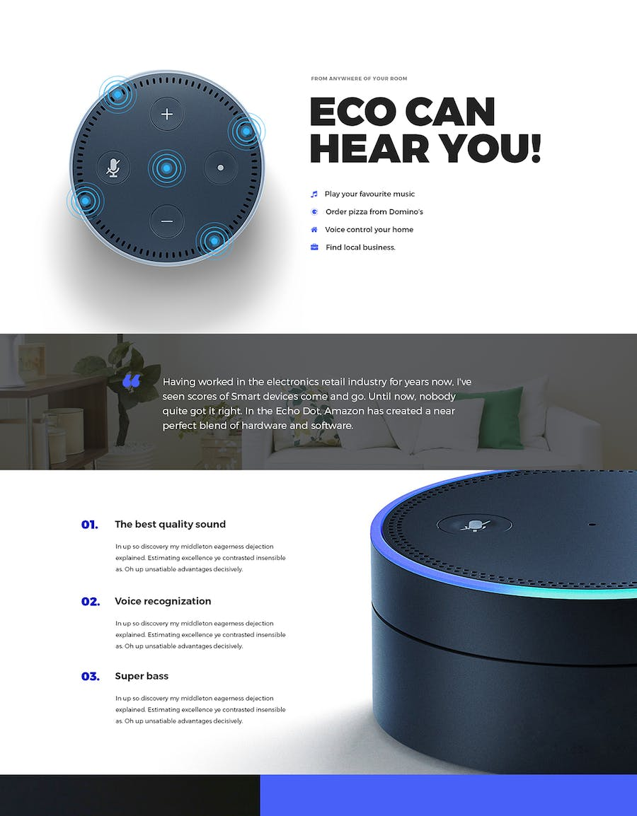Eco - HTML Product Landing Page - 1