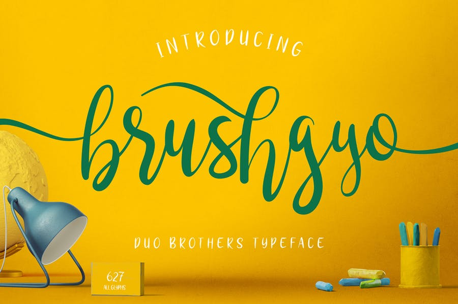 brushgyo typeface - 0
