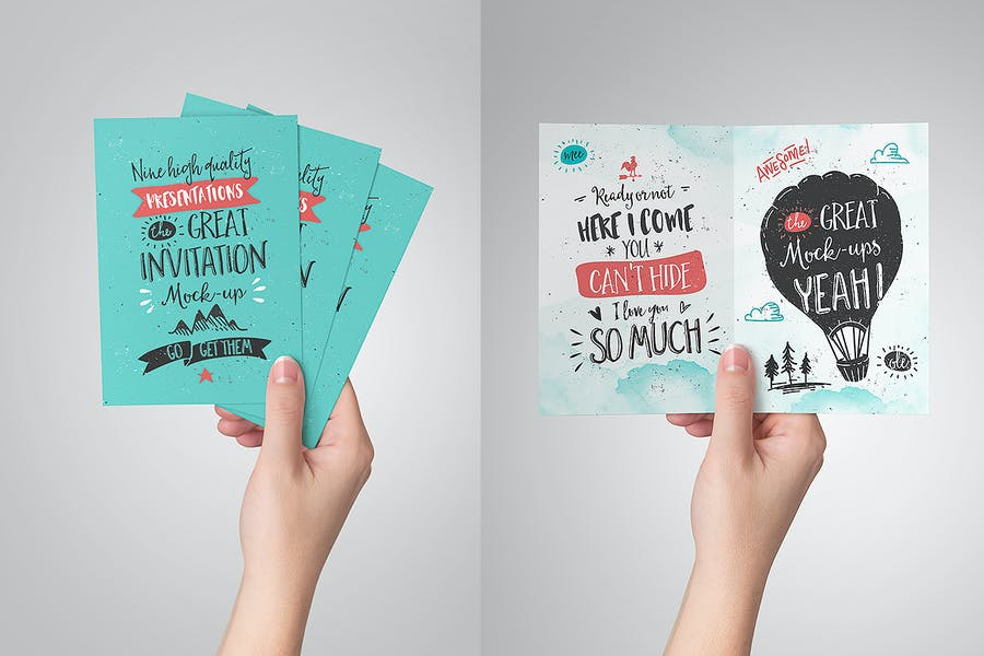 Invitation / Greeting Card Mock-Up - 3