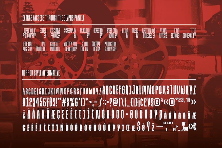 Due Credit: The Film Designer's Font - 1