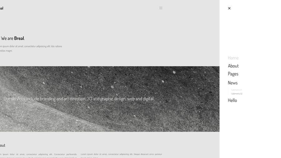 Breal - Minimal Website PSD Template - 1