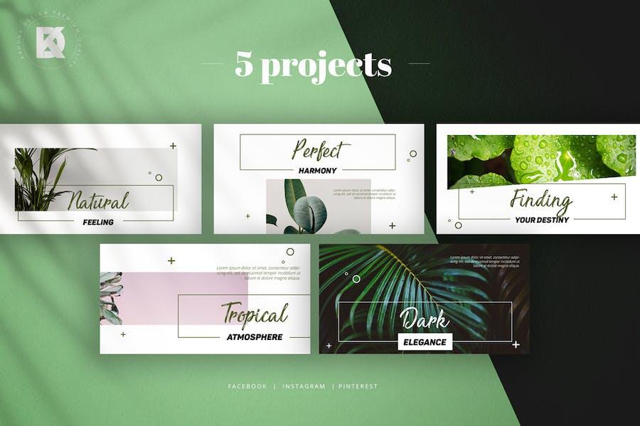 Natural Green Social Media Pack - 2