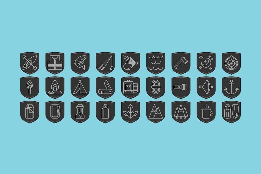 Outdoor Adventure Icons - 2